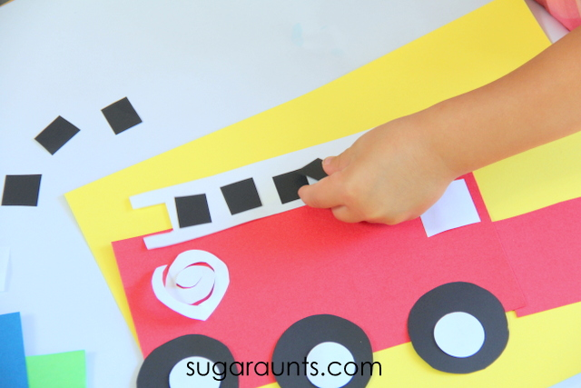 Fire Truck Craft Easy Shapes