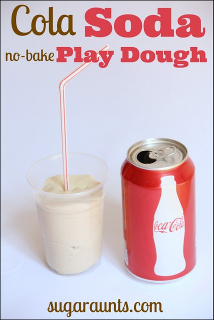 cola soda pop no bake play dough recipe for sensory play