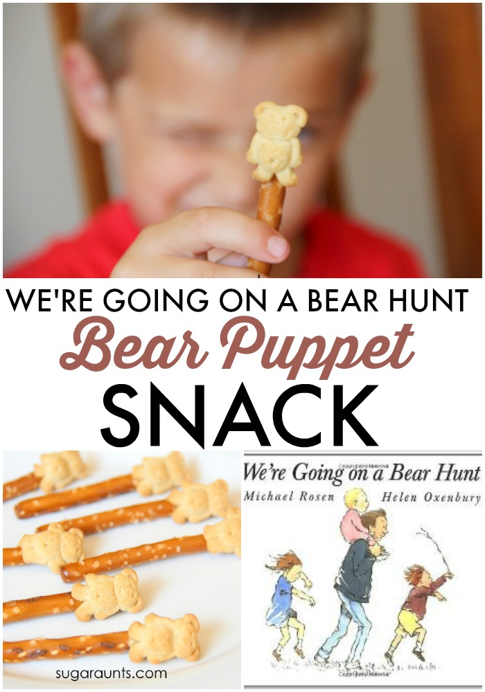 We're Going On a Bear Hunt book and snack idea for kids, this is perfect for Preschool!