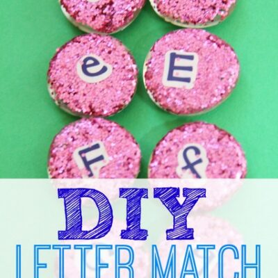 Letter Matching Glitter Manipulatives for Learning