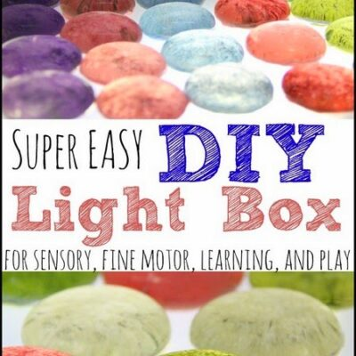 How to make an easy Light Box for play and learning