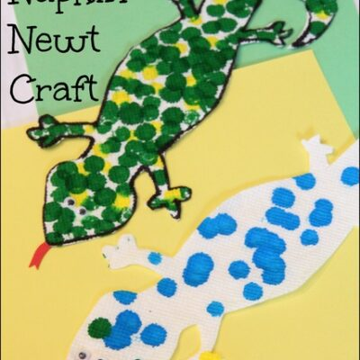 N is for Napkin Newt Craft