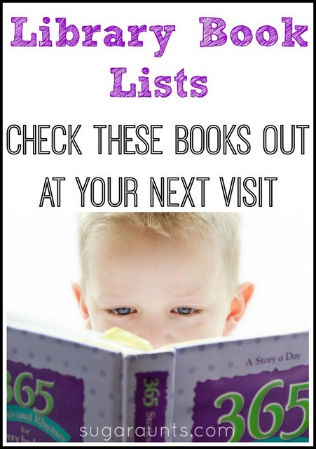 Library book lists. These are great books to check out when you take the kids to the library!