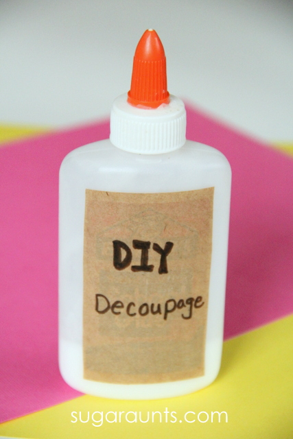 DIY Decoupage for Crafts and Activities , The OT Toolbox