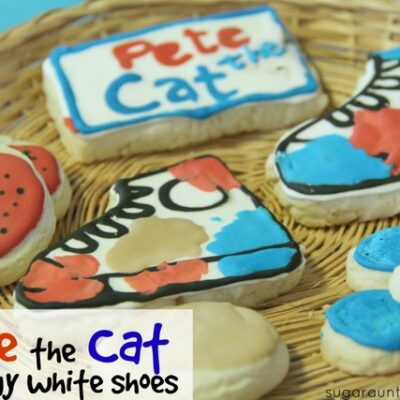 Pete the Cat White Shoes Cookies