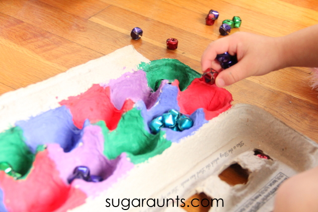 Count jingle bells with this Christmas fine motor activity for children.