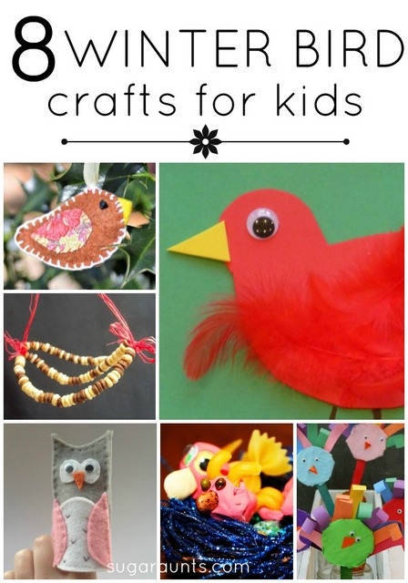 Winter bird crafts and activities for kids