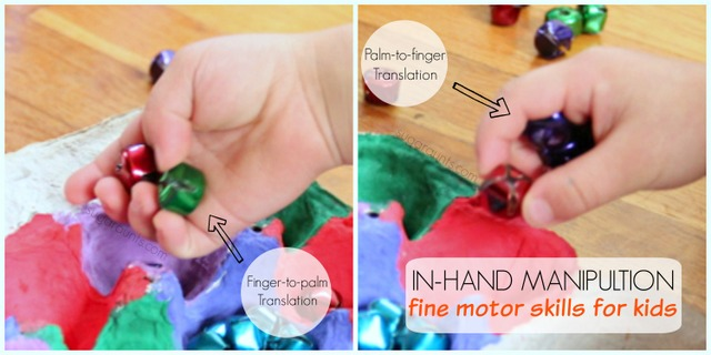 In hand manipulation is a fine motor skill that kids can refine with this jingle bell activity for children.