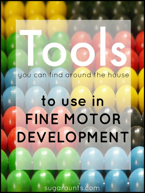 Great tips to work on improving fine motor skills in kids with simple tools you can find around the house.