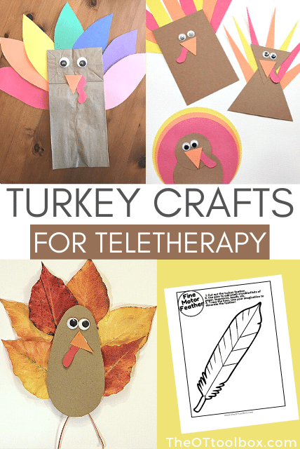turkey craft for kids that are great crafts for teletherapy