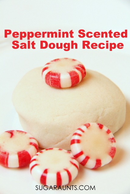 Peppermint scented salt dough recipe for Christmas ornaments
