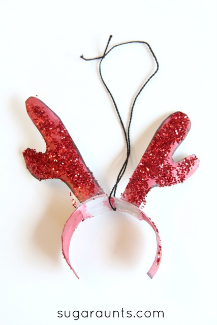 Antlers ornament to go with the book Olive The Other Reindeer