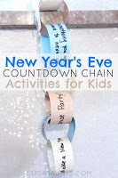 New Year's Eve Activity countdown for kids.  This is a great way to get the kids involved in New Year's Eve festivities