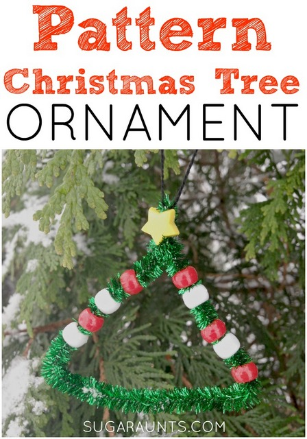 Pattern Christmas tree ornament for kids