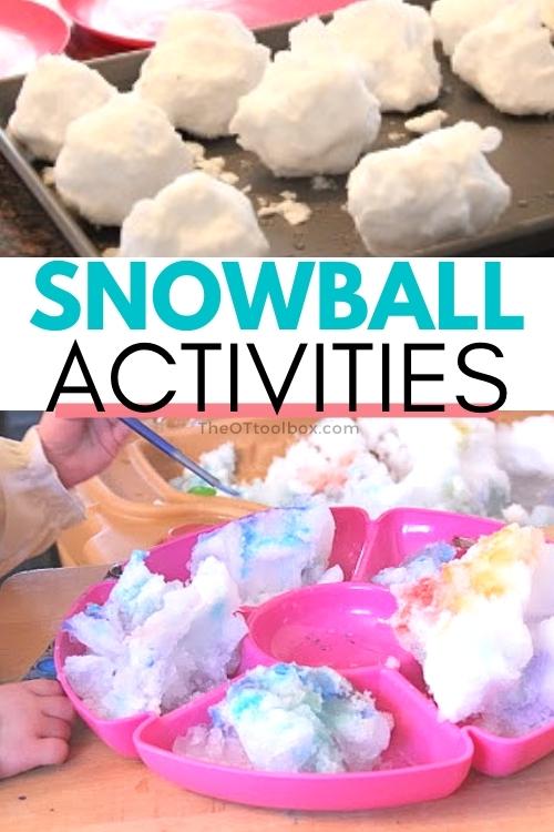snowball activities