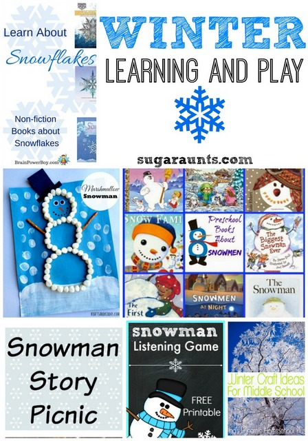 winter learning and play activites for kids.