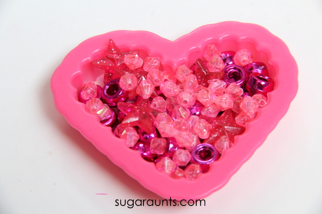 Work on fine motor skills with a Valentine's Day fine motor activity