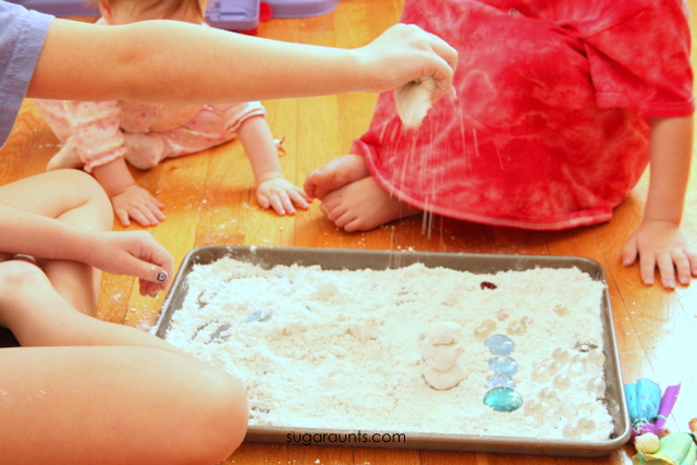 This fake snow recipe is a fun indoor snow activity for kids