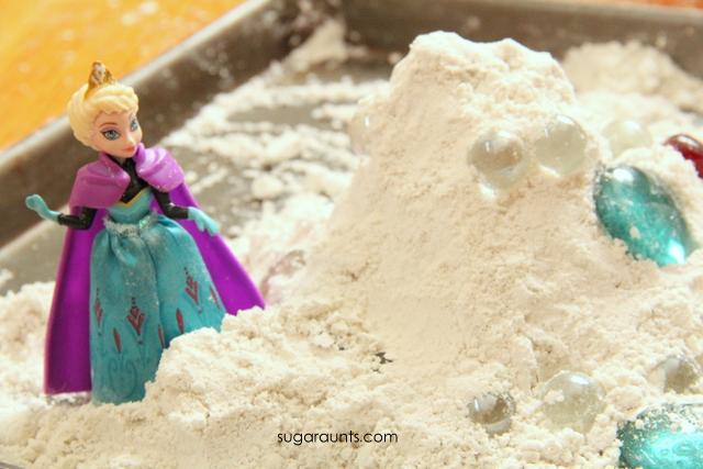 Frozen snow activity with Elsa