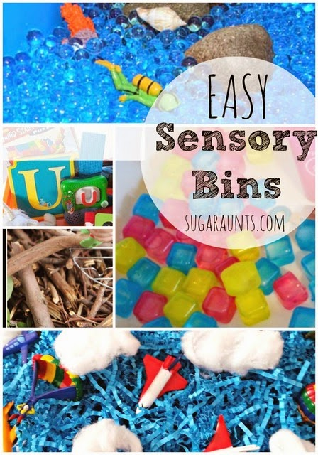 Try these sensory bin ideas to encourage sensory play in any theme!