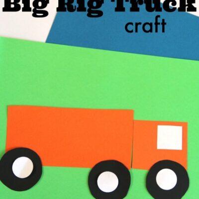 Easy Shapes Big Rig Craft