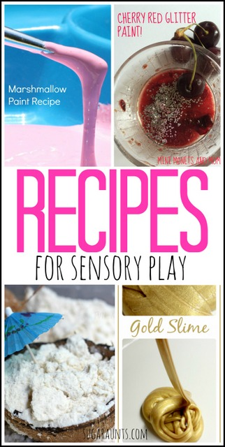 Try these sensory recipes that promote messy sensory play experiences to challenge and promote tactile sensory play!