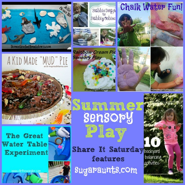 These summer sensory experiences are outdoor sensory fun that kids will love including messy sensory play!