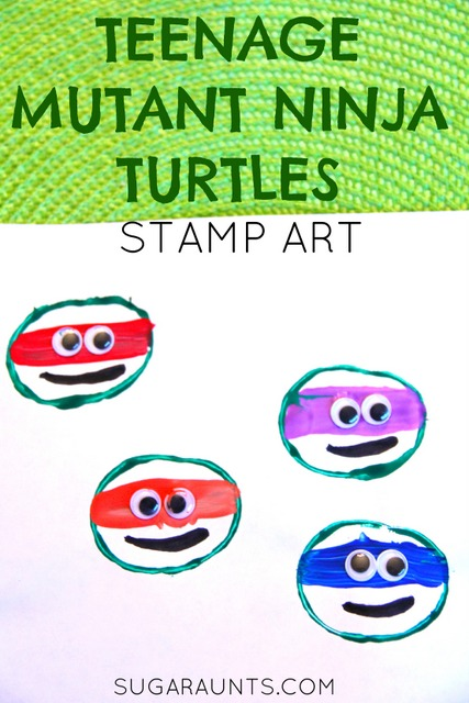 Teenage mutant ninja turtle stamp art craft