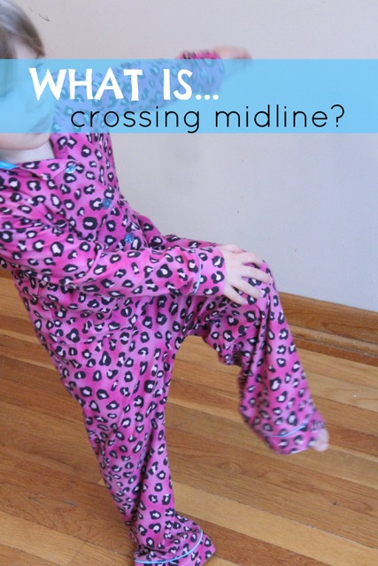 What is crossing midline and why is it important to a child's development?