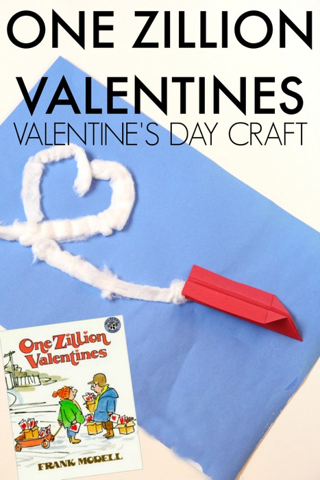 Have you read the book, One Zillion Valentines? Such a cute book for kids and this craft is based on the book.
