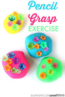 Pencil Grasp Play Dough Exercise