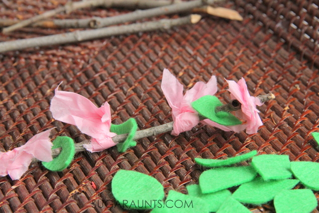 cherry blossom pattern spring activity for kids
