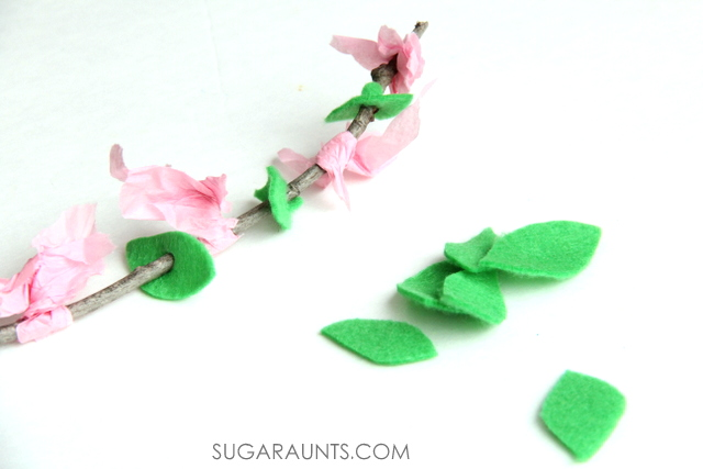 cherry blossom fine motor pattern activity