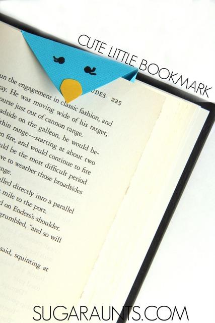 Paper bird bookmark craft