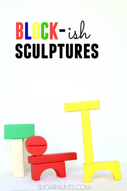 Block sculptures based on the book Ish by Peter H. Reynolds
