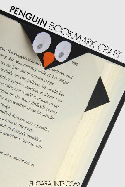 Penguin paper craft bookmark