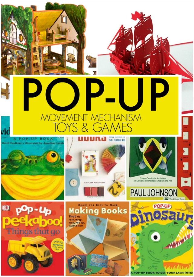 pop-up games books activities for kids