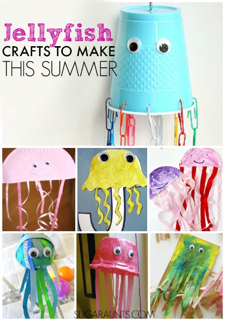 jellyfish summer crafts for kids.  make these before going to the beach!