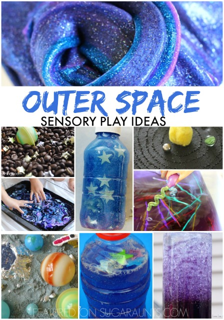 Outer space ideas for sensory play