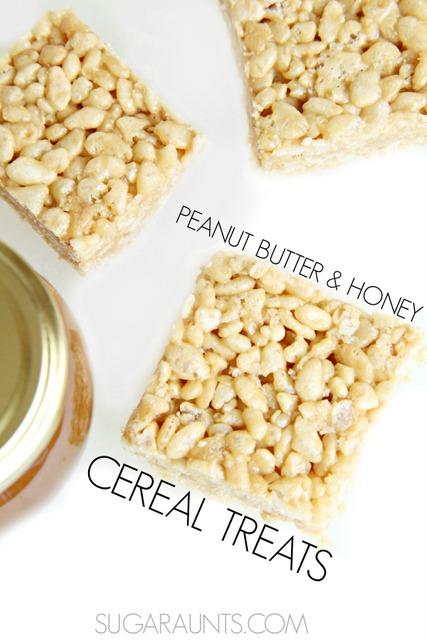 Honey and Peanut Butter Rice Krispy Treats recipe
