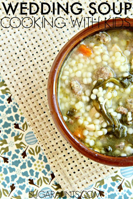 Italian Wedding Soup Recipe.  Kids love this soup and can help with making it! Part of the Cooking With Kids series.