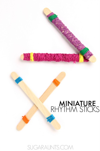 DIY rhythm sticks craft