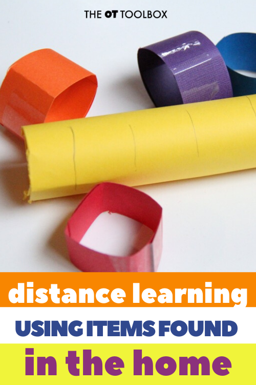 Distance learning ideas for learning at home with free materials.