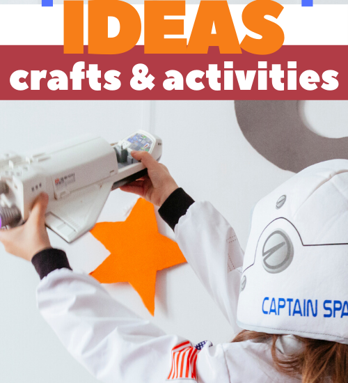 Space camp ideas for home programs or DIY summer camp with space fine motor, galaxy crafts, and space sensory play