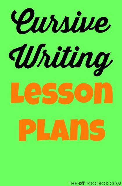 Cursive Writing Lesson Plan - The OT Toolbox