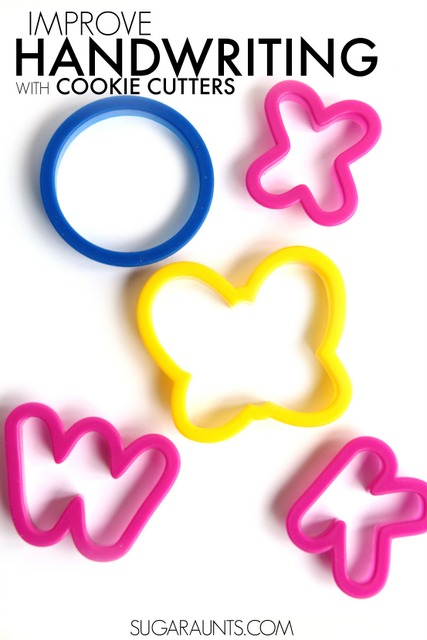 letter formation with cookie cutters