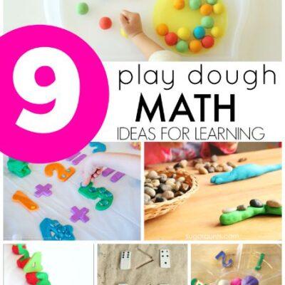 Play Dough Math Activities