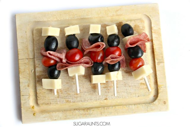 This Antipasta Skewer Kabab recipe is kid-friendly with it's lollipop stick skewers!  What a great idea for lunches or after-school snacks.  Part of the Cooking With Kids A-Z series.
