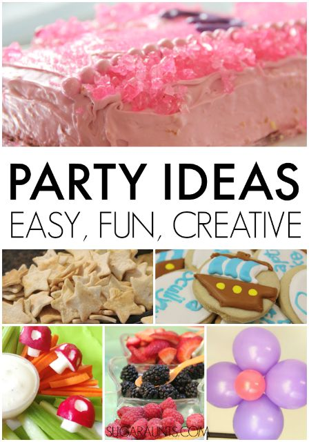 Party ideas for kids' birthday parties, themed play dates, and celebrating special little ones.
