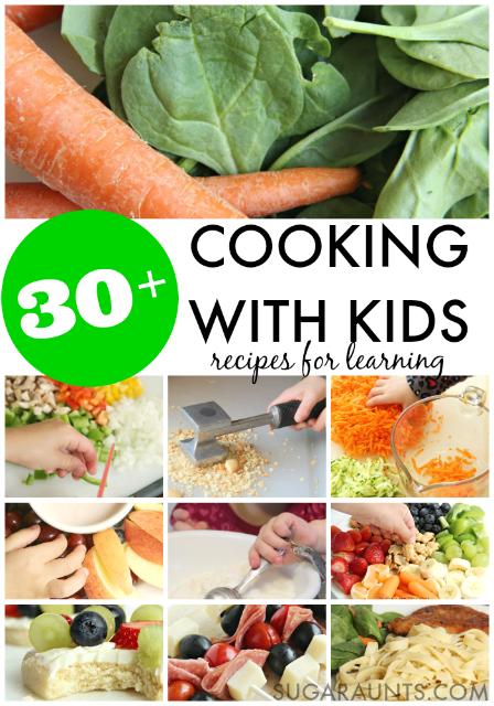 Cooking With Kids recipes for learning in the kitchen.  So many healthy meal ideas on this site that kids can make and learn while cooking.
